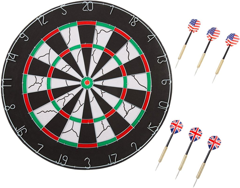 Official dartboard height and distance